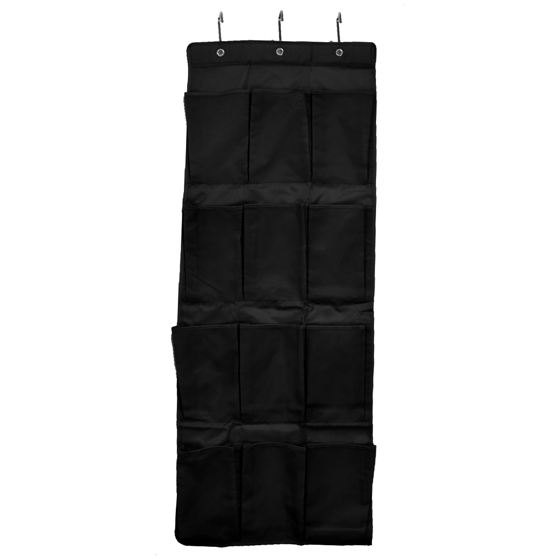 Household 12 Pockets Shoes Toiletry Cosmetic Hanging Organizer Holder Bag Black