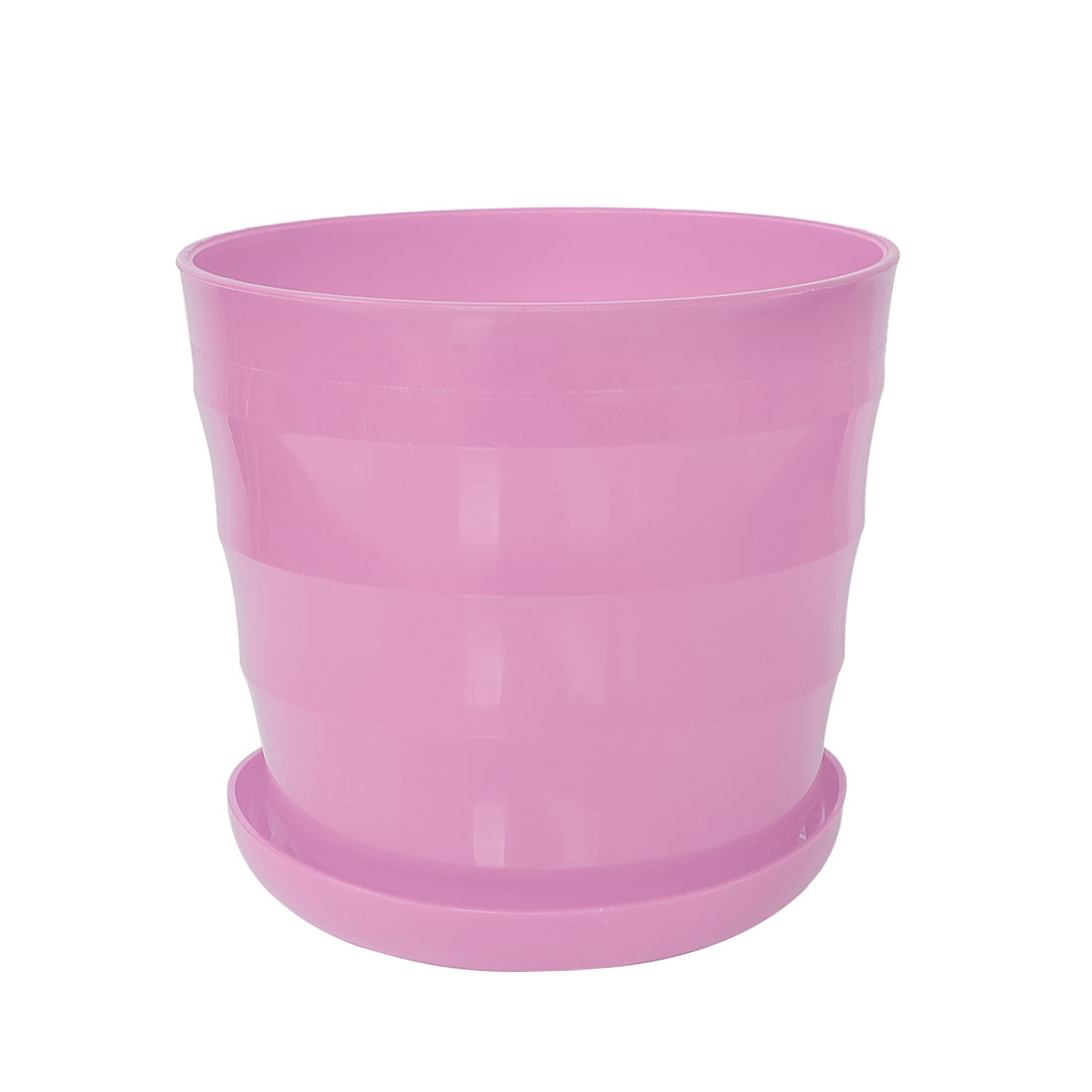 Home Garden Office Plastic Round Plant Planter Flower Pot Ornament Pink