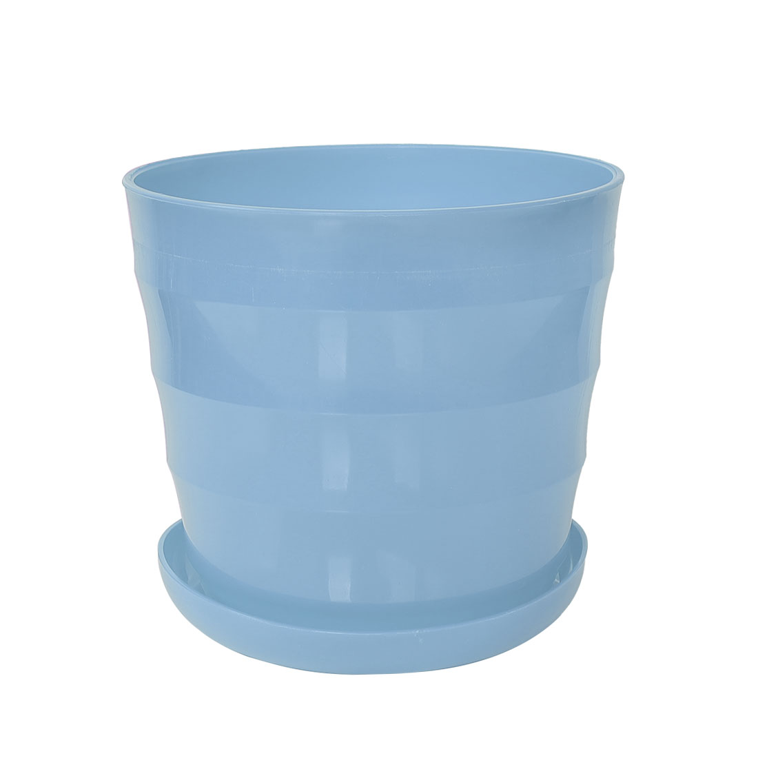 Home Balcony Garden Plastic Round Plant Planter Container Flower Pot Sky Blue