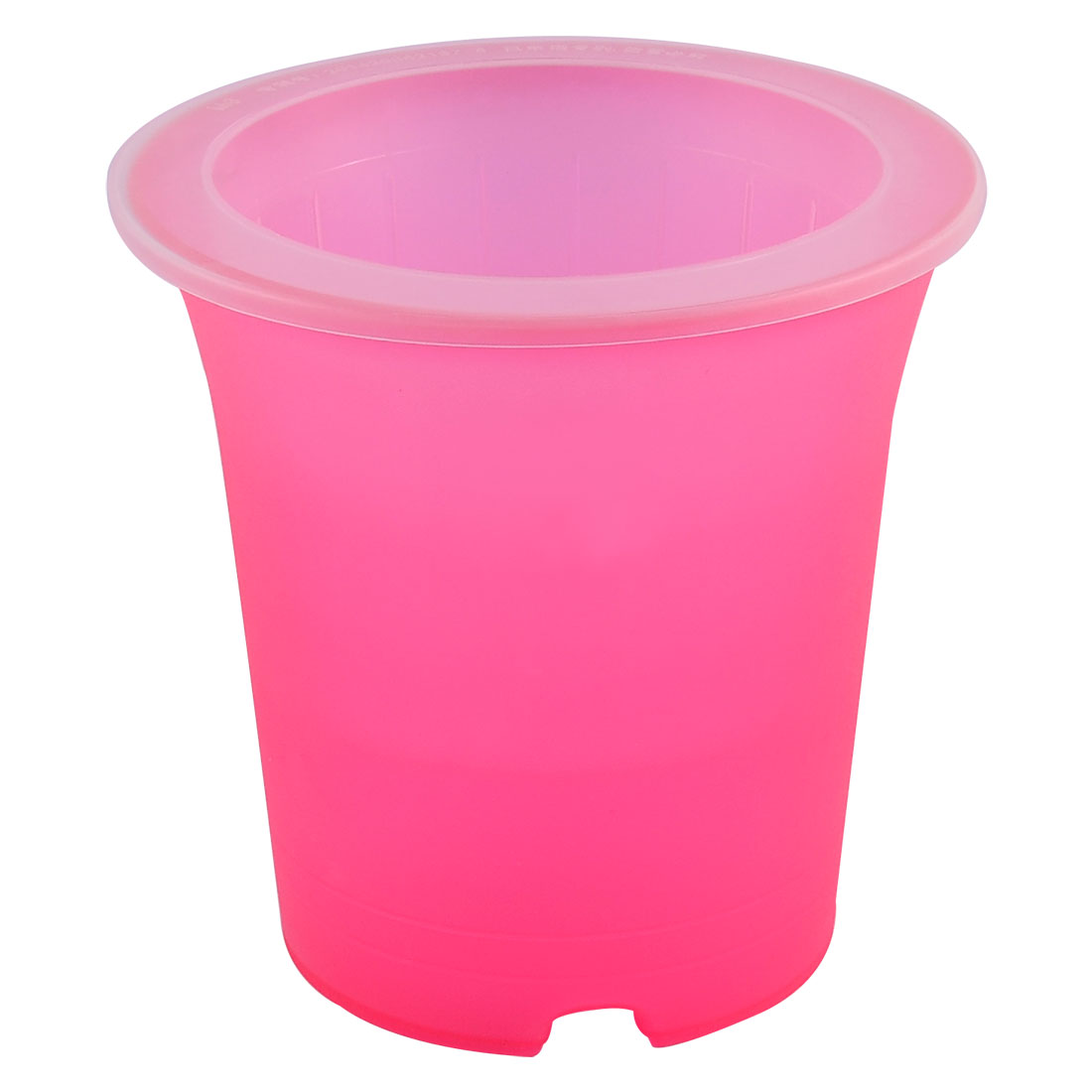 Plastic Double Layers Design Flower Pot Self Watering Planter Container Red