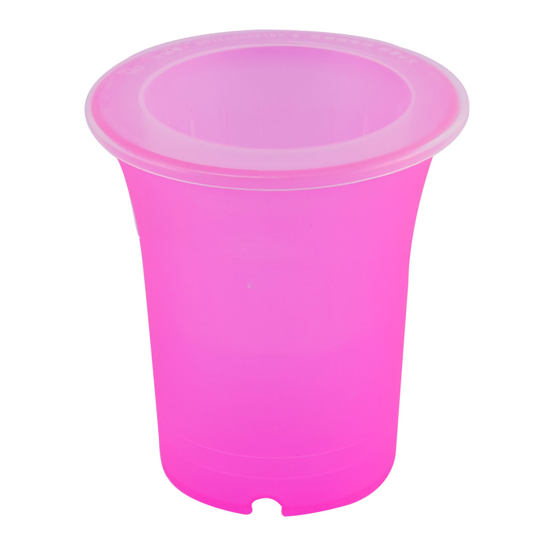 Plastic Cylinder Two Layers Self Watering Planter Holder Flower Pot Fuchsia