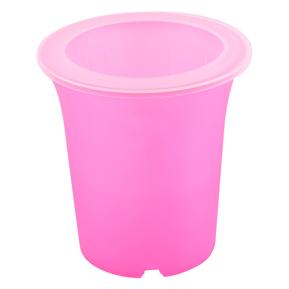 Plastic Round Design Self Watering Planter Garden Pot Container Fuchsia