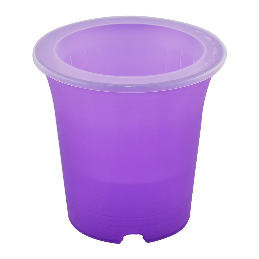 Home Windowsill Plastic Cylinder Self Watering Planter Flowerpot Purple