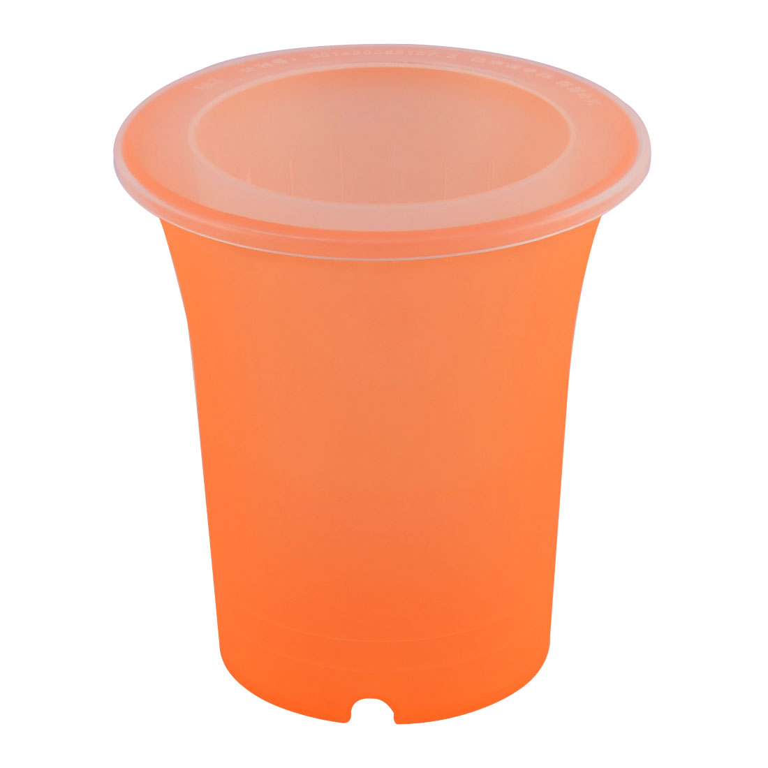Balcony Plastic Cylinder Shape Self Watering Planter Flowerpot Container Orange