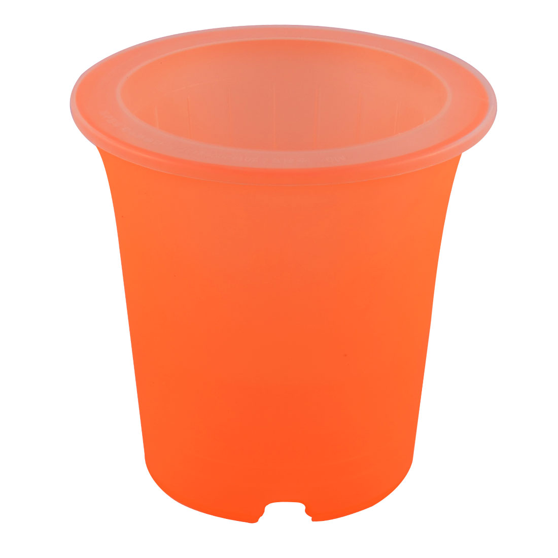 Office Desktop Decor Plastic Self Watering Planter Garden Pot Orange