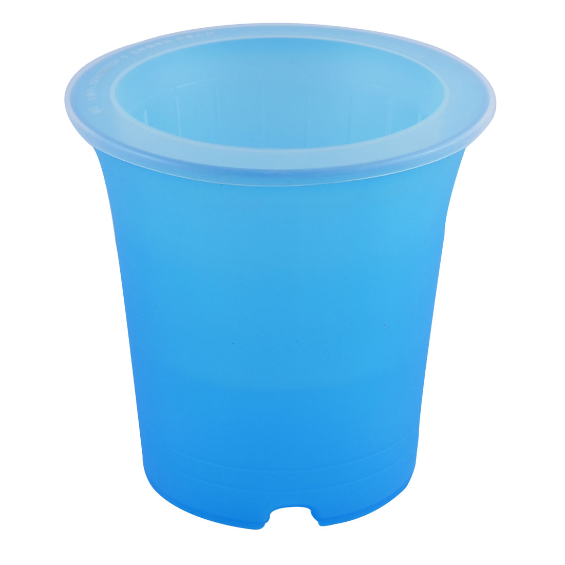 Balcony Tabletop Decor Plastic Flowerpot Self Watering Planter Container Blue