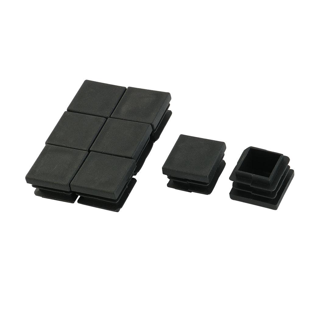 Plastic Square Shaped Tube Inserts Furniture Glides End Blanking Caps 8pcs