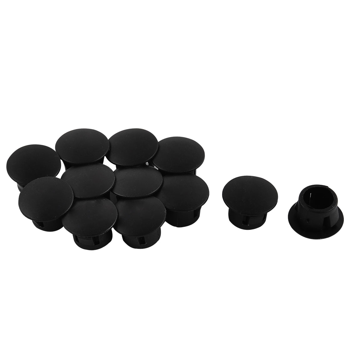 Door Window Mounting Locking Hole Plugs Button Cover 8mm Diameter 12pcs