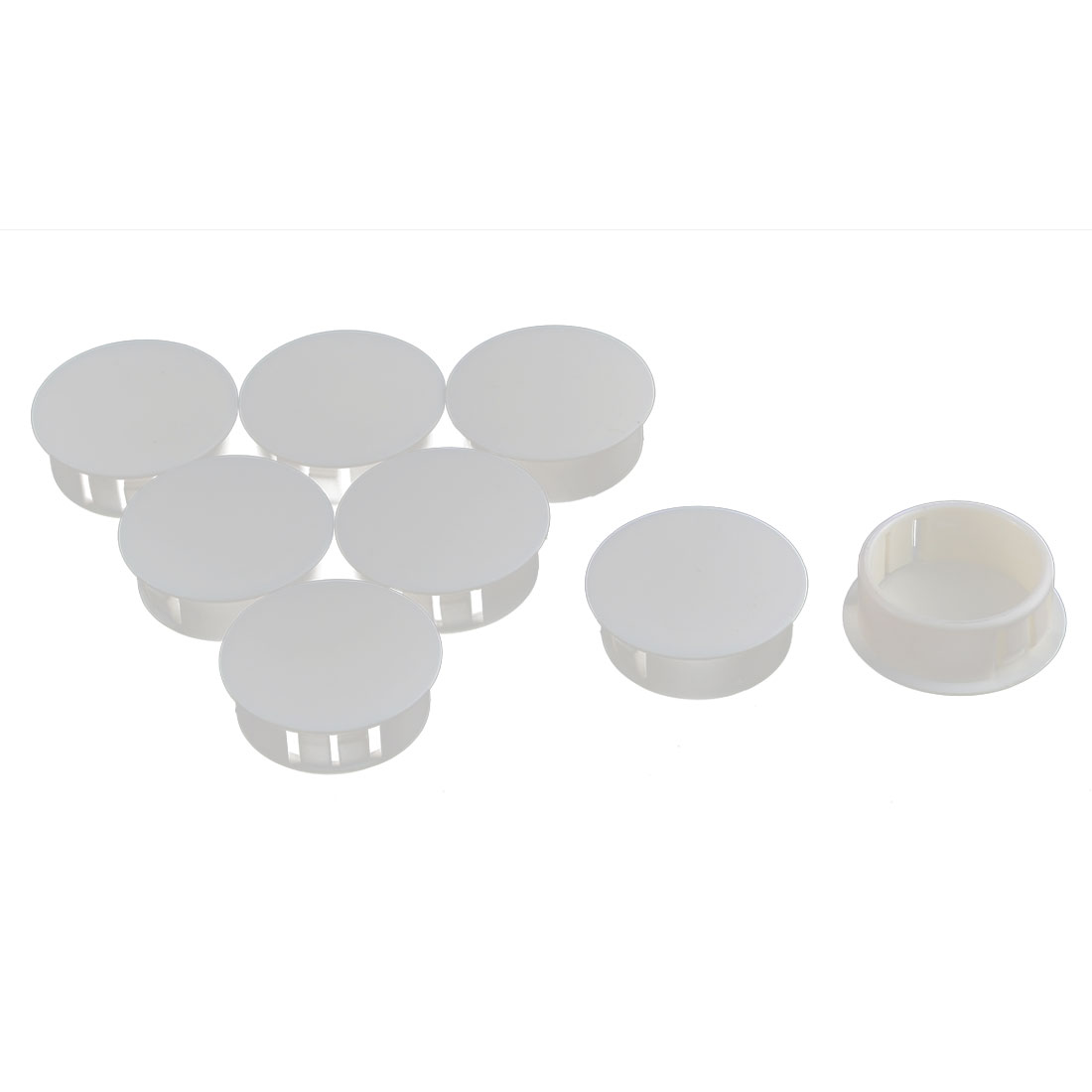 Door Window Plastic Mounting Locking Hole Plugs Button Cover White 8pcs
