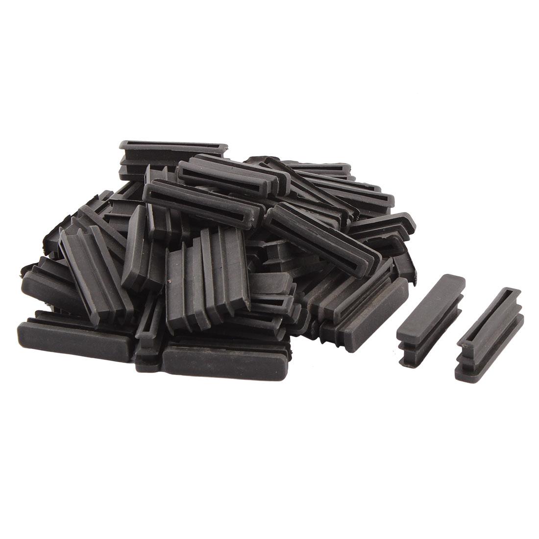 Household Plastic Rectangular Shaped Table Chair Leg Feet Tube Pipe Insert Black 50 x 10mm 50 PCS