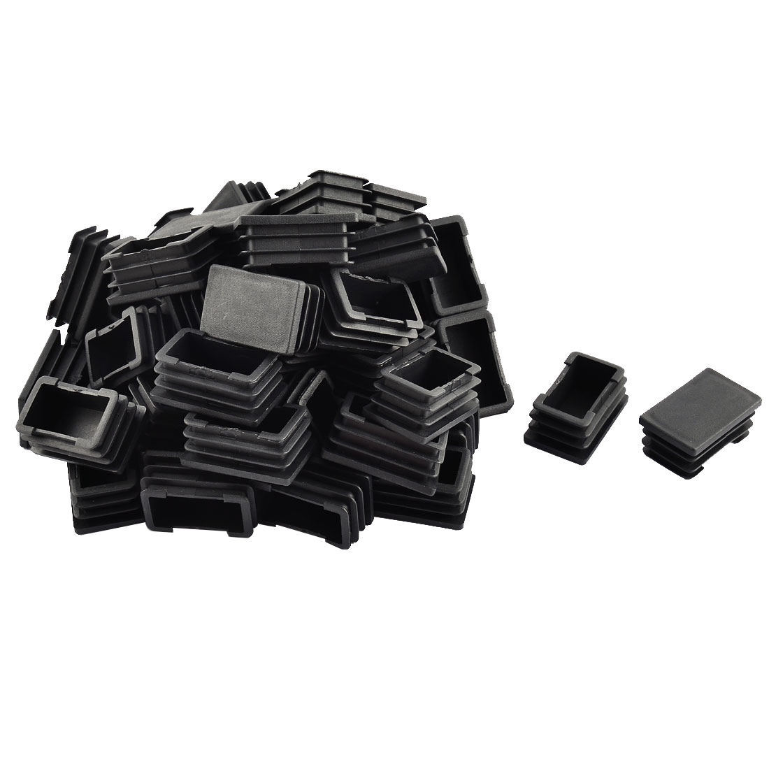 Floor No Scratch Protect Chair Leg Pipe Tube Insert Cover Black 39 x 24mm 50pcs