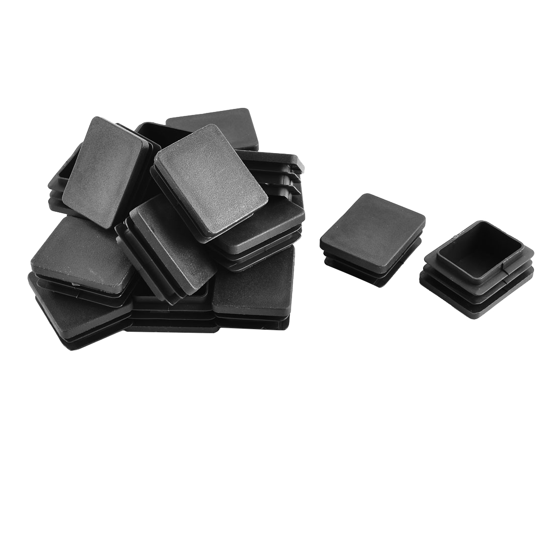 Plastic Rectangle Tube Inserts End Blanking Cap Black 40mm x 50mm 20 Pcs