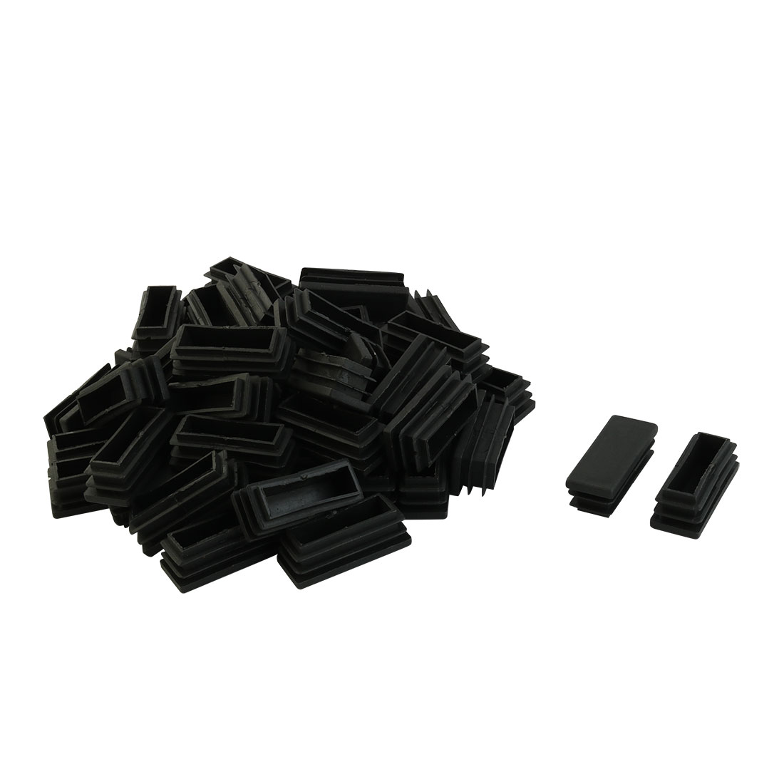 Home Office No Scratch Floor Protection Chair Leg Tube Insert Black 50 x 20mm 50pcs