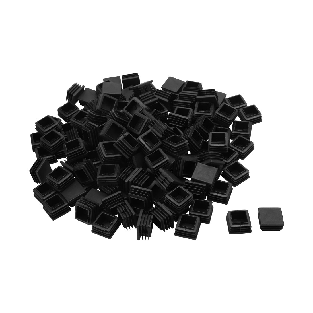 Floor No Scratch Square Chair Leg Pipe Tube Insert Cover Black 28 x 28mm 50pcs