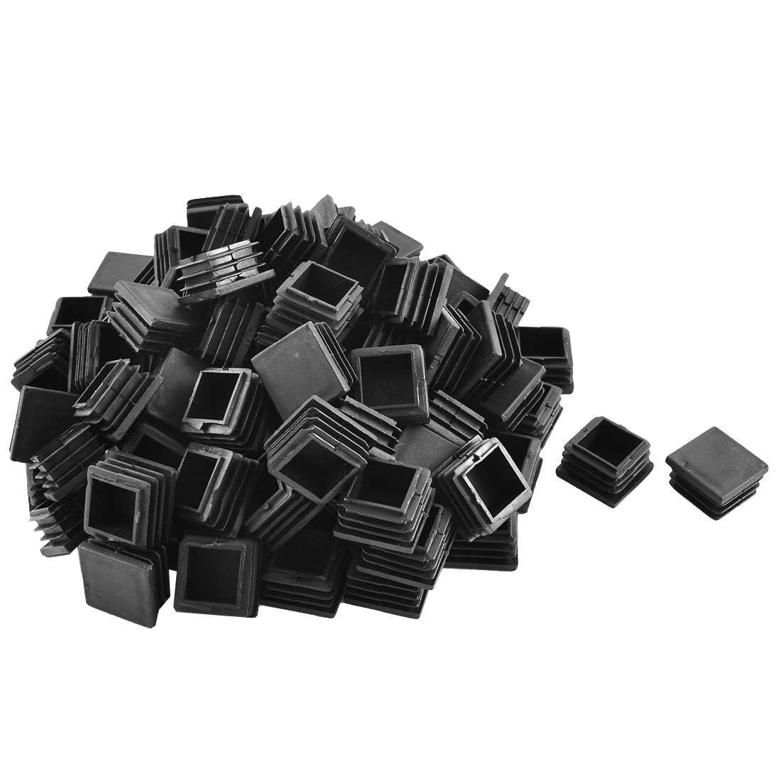 Plastic Square Tube Inserts End Blanking Caps Black 30mm x 30mm 100 Pcs