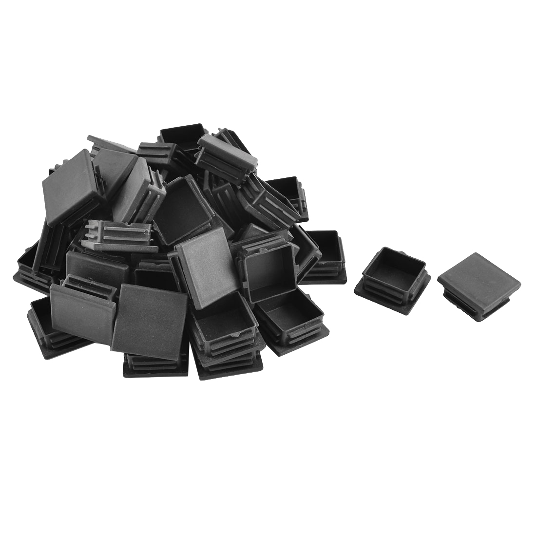 Plastic Square Blanking End Caps Tubing Tube Inserts Black 38mm x 38mm 50pcs