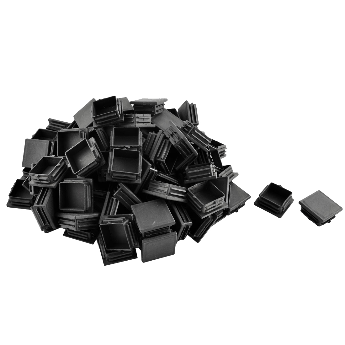 Plastic Square Tube Pipe Inserts End Blanking Caps Black 38mmx38mm 100 Pcs