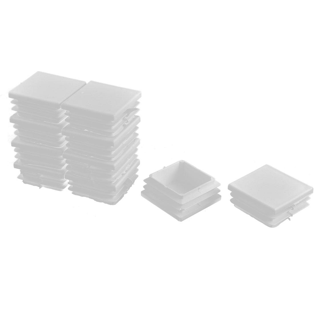 Plastic Square Tube Pipe Inserts End Blanking Caps White 38mmx38mm 10 Pcs