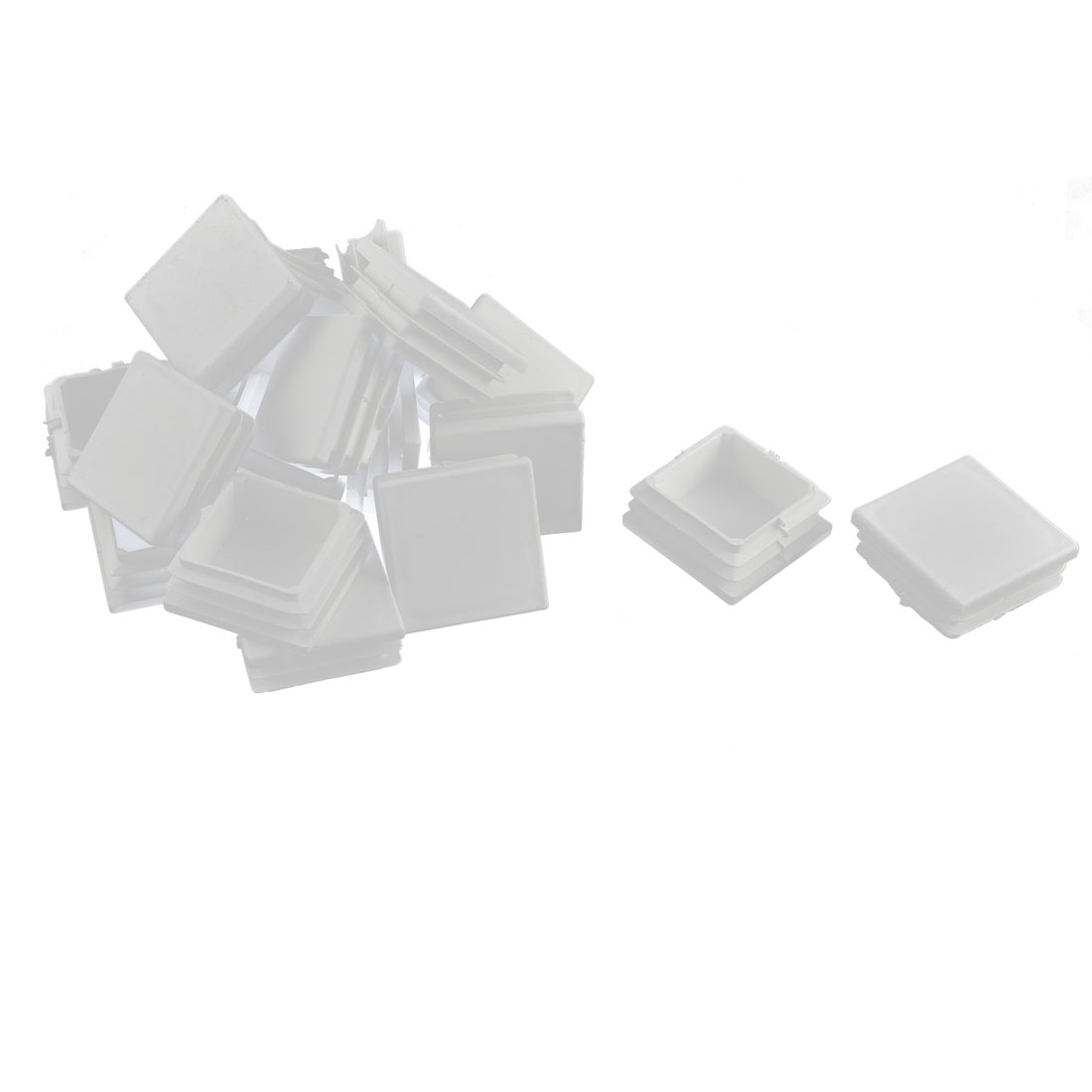 Plastic Square Tube Pipe Inserts End Blanking Caps White 38mmx38mm 20 Pcs