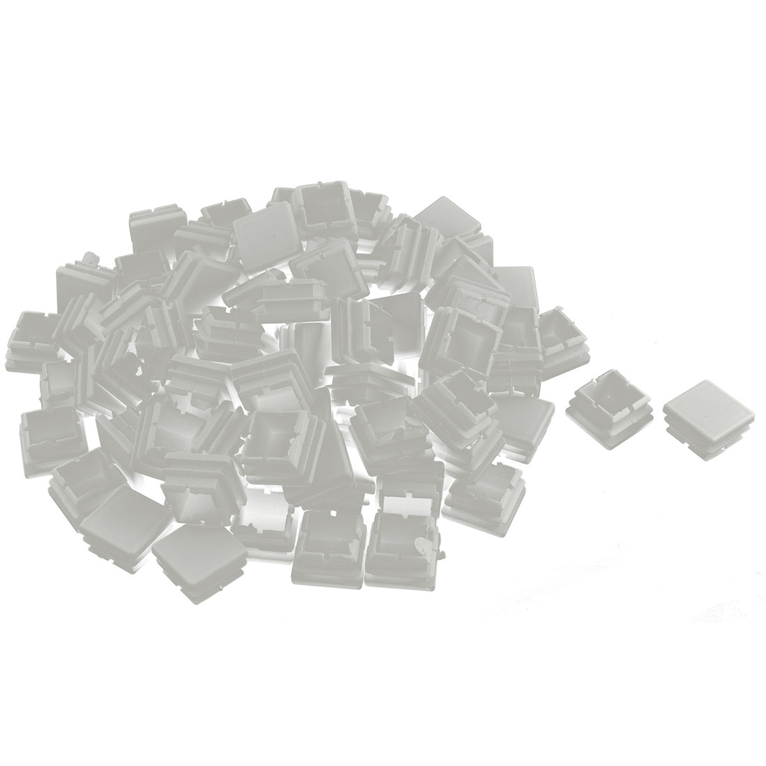 Plastic Square Tube Pipe Inserts End Blanking Caps White 25mmx25mm 100 Pcs