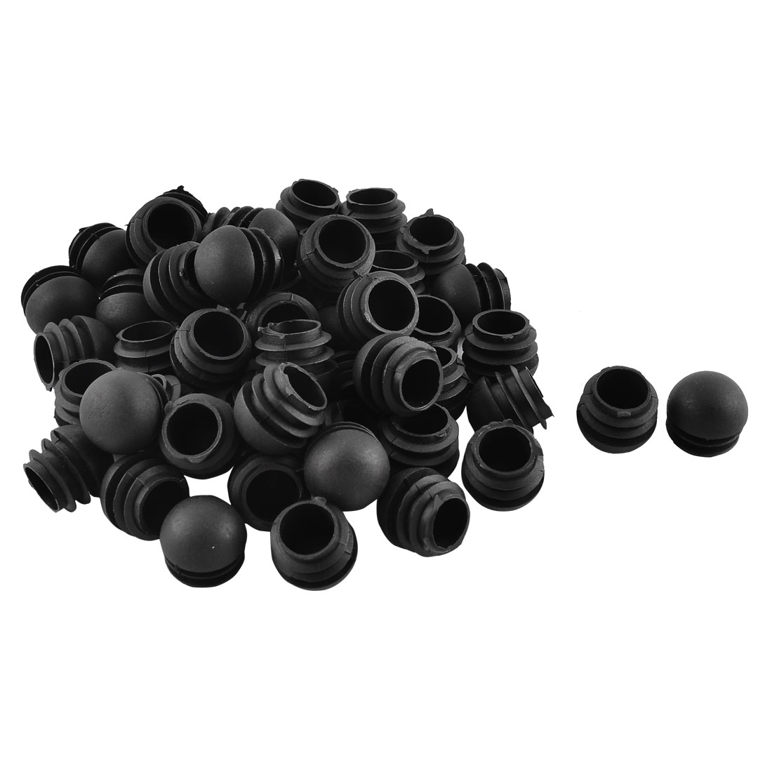 Office Plastic Round Shaped Furniture Table Chair Leg Feet Tube Insert Black 50 Pcs