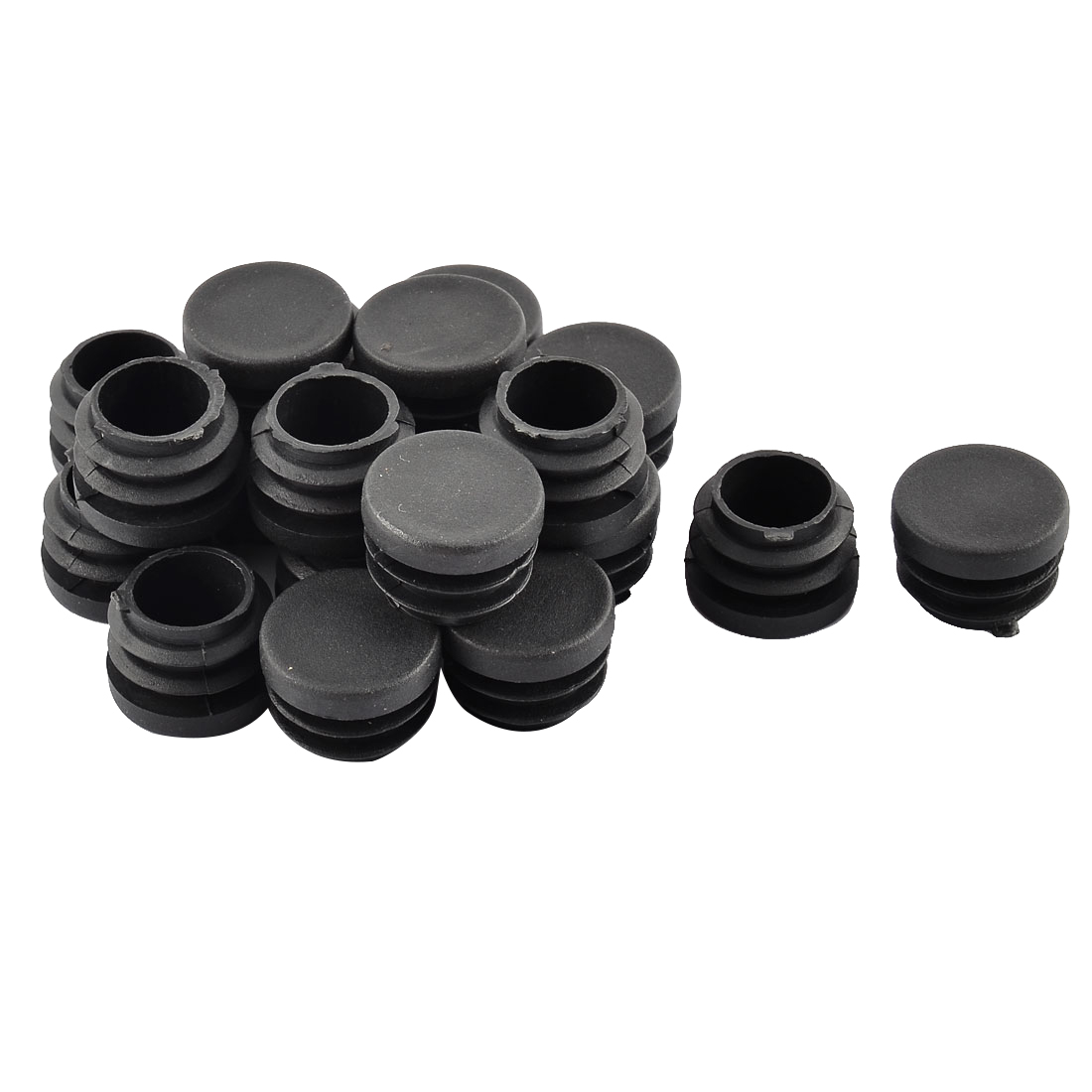 Floor Protect No Scratch Round Chair Leg Pipe Tube Insert Blanking 24mm Dia 20pcs