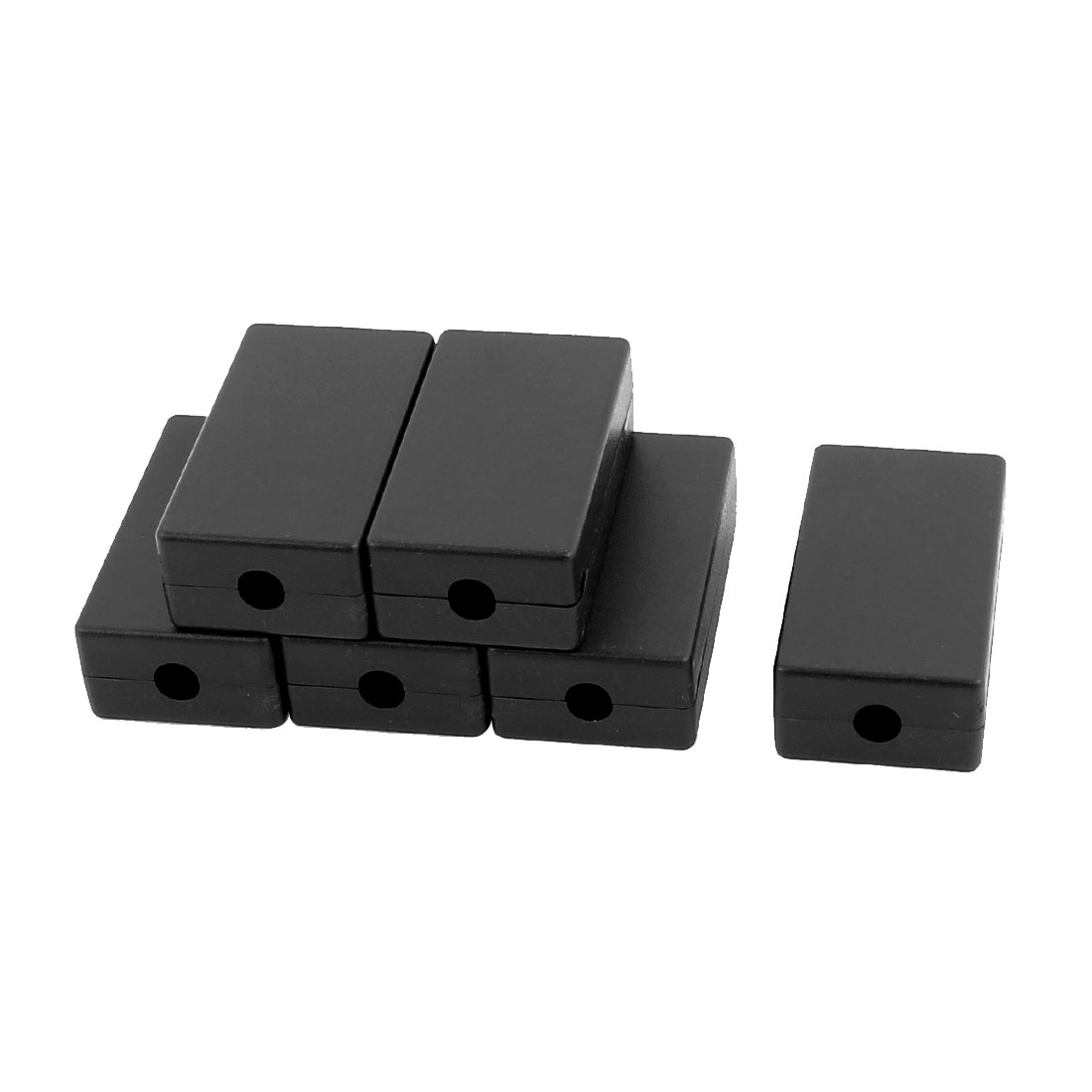 48mm x 26mm x 15mm Plasitc Junction Box in Rectangular Shape Black