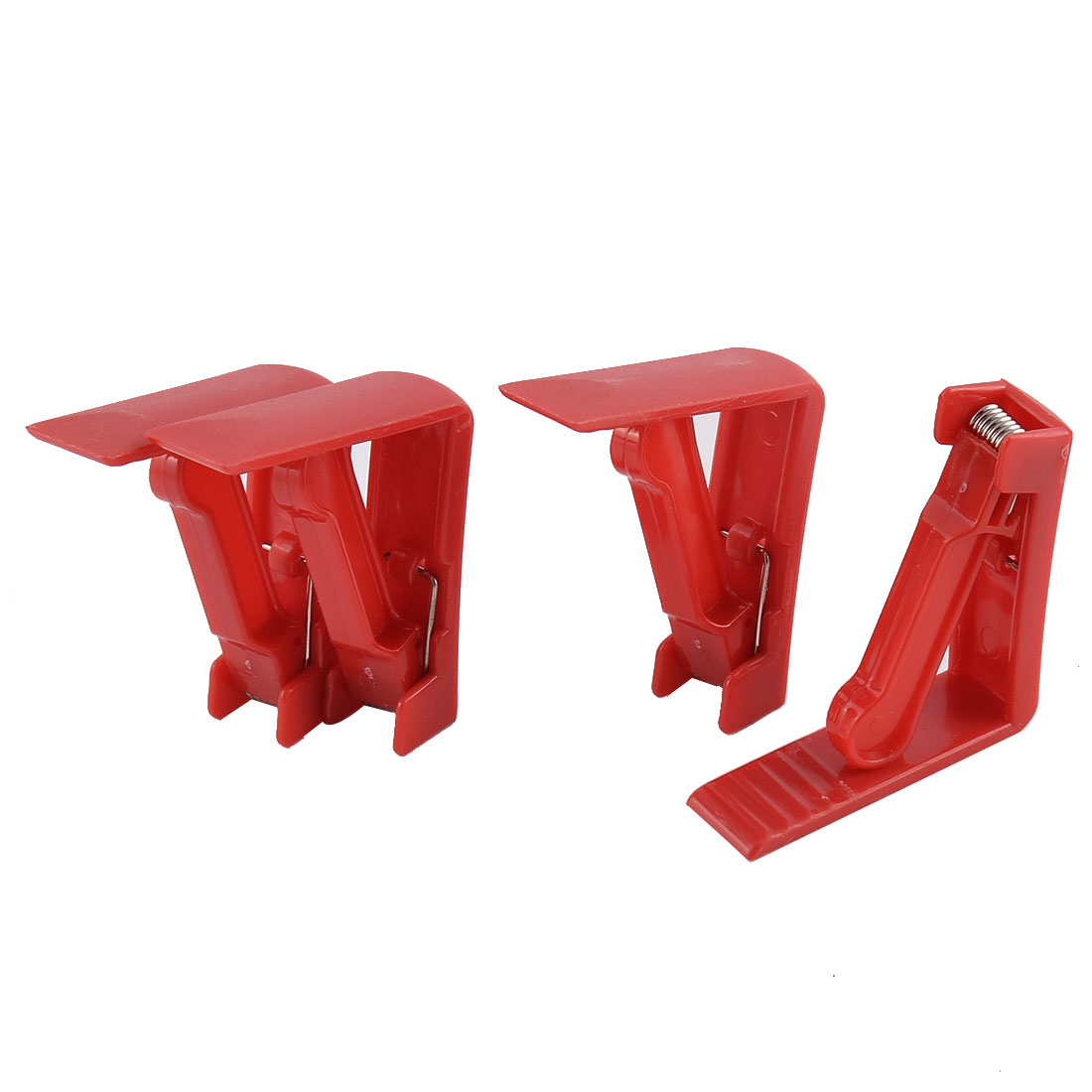Home Party Wedding Banquet Plastic Table Cloth Holder Clip Clamp Red 4 Pcs