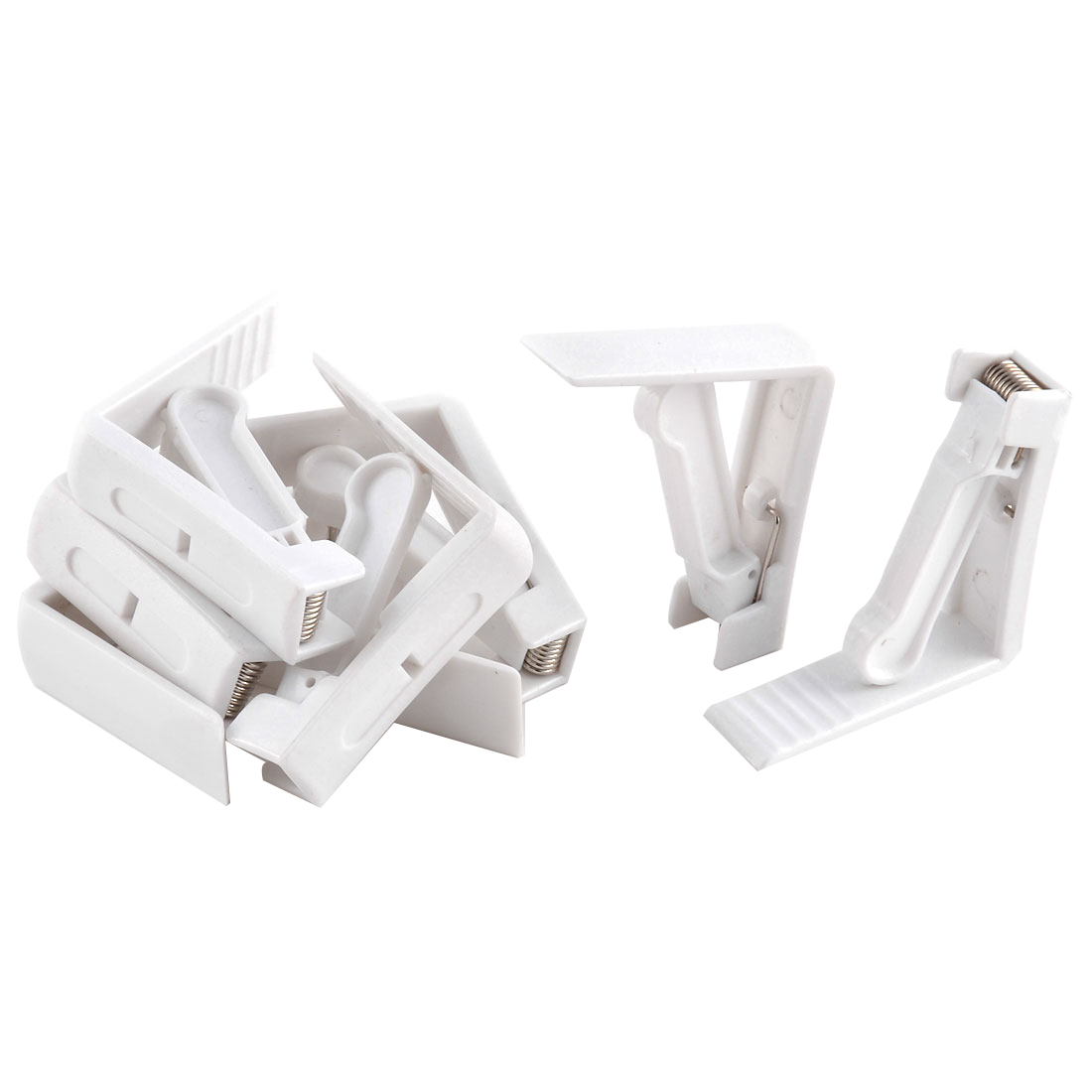 Home Party Wedding Banquet Plastic Table Cloth Holder Clip Clamp White 8 Pcs