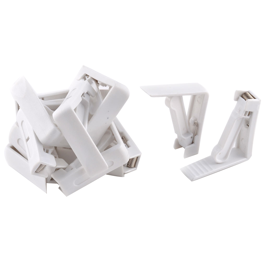Home Party Wedding Banquet Plastic Table Cloth Holder Clip Clamp White 12 Pcs