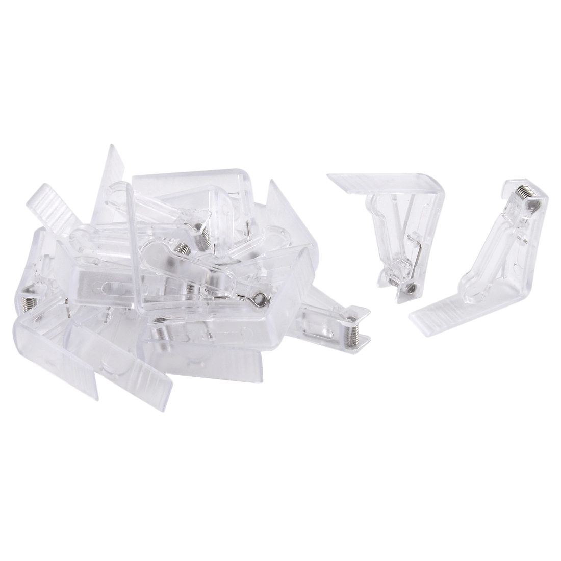 Home Party Wedding Banquet Plastic Table Cloth Holder Clip Clamp Clear 16 Pcs