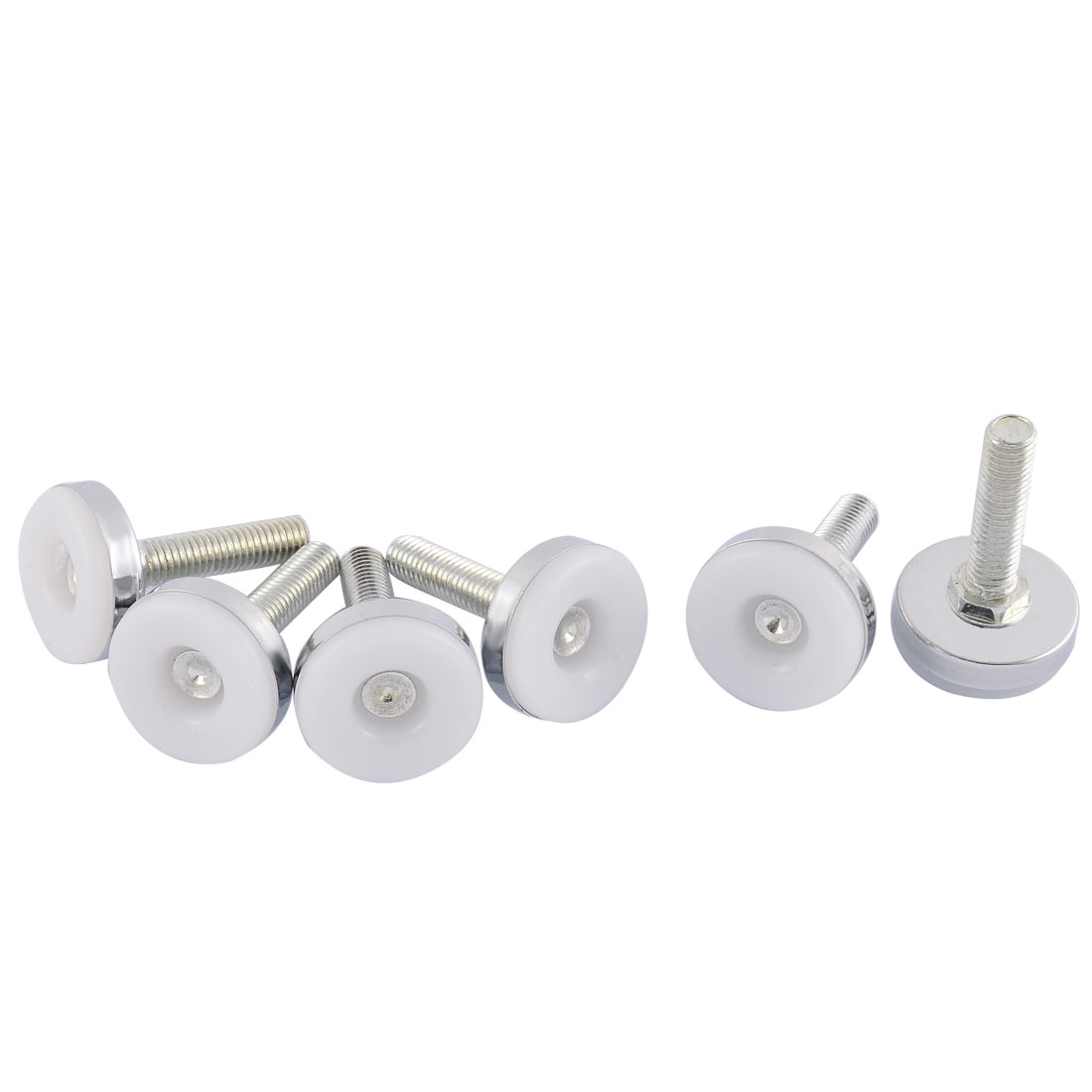 Household Office Adjustable Furniture Glide Leveling Feet 10mm Thread Dia 6 Pcs