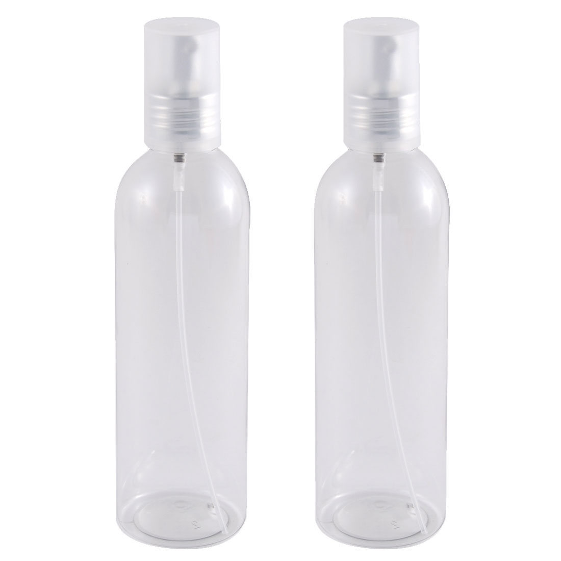 Traveling Plastic Shampoo Cosmetic Emulsion Press Pump Spray Bottle Clear 250ml 2pcs