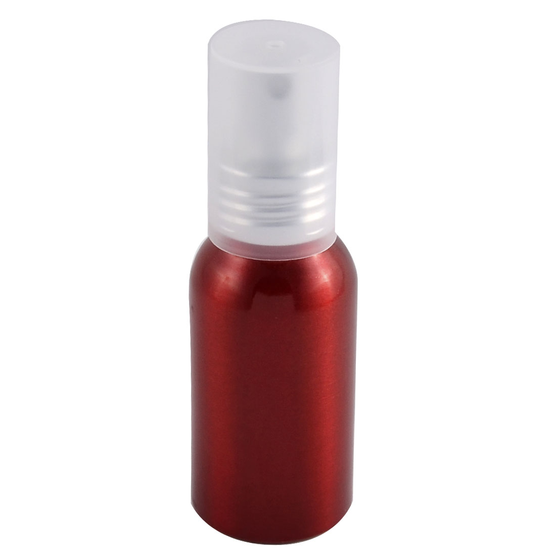 Travel Aluminum Cosmetic Emulsion Press Pump Fine Mist Spray Bottle Red 50ml