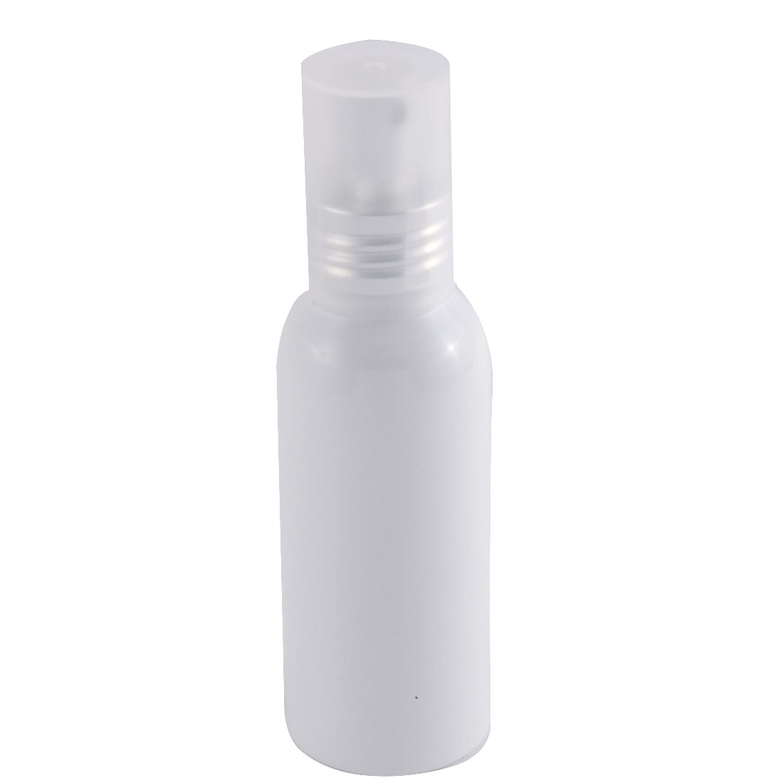 Travel Aluminum Cosmetic Emulsion Press Pump Fine Mist Spray Bottle White 100ml