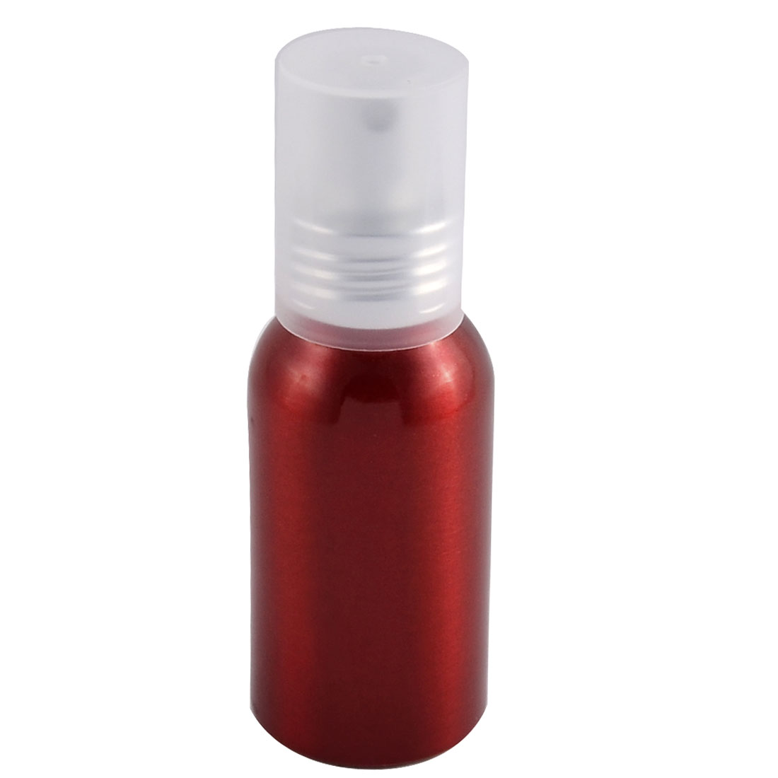 Travel Aluminum Cosmetic Emulsion Press Pump Fine Mist Spray Bottle Burgundy 100ml