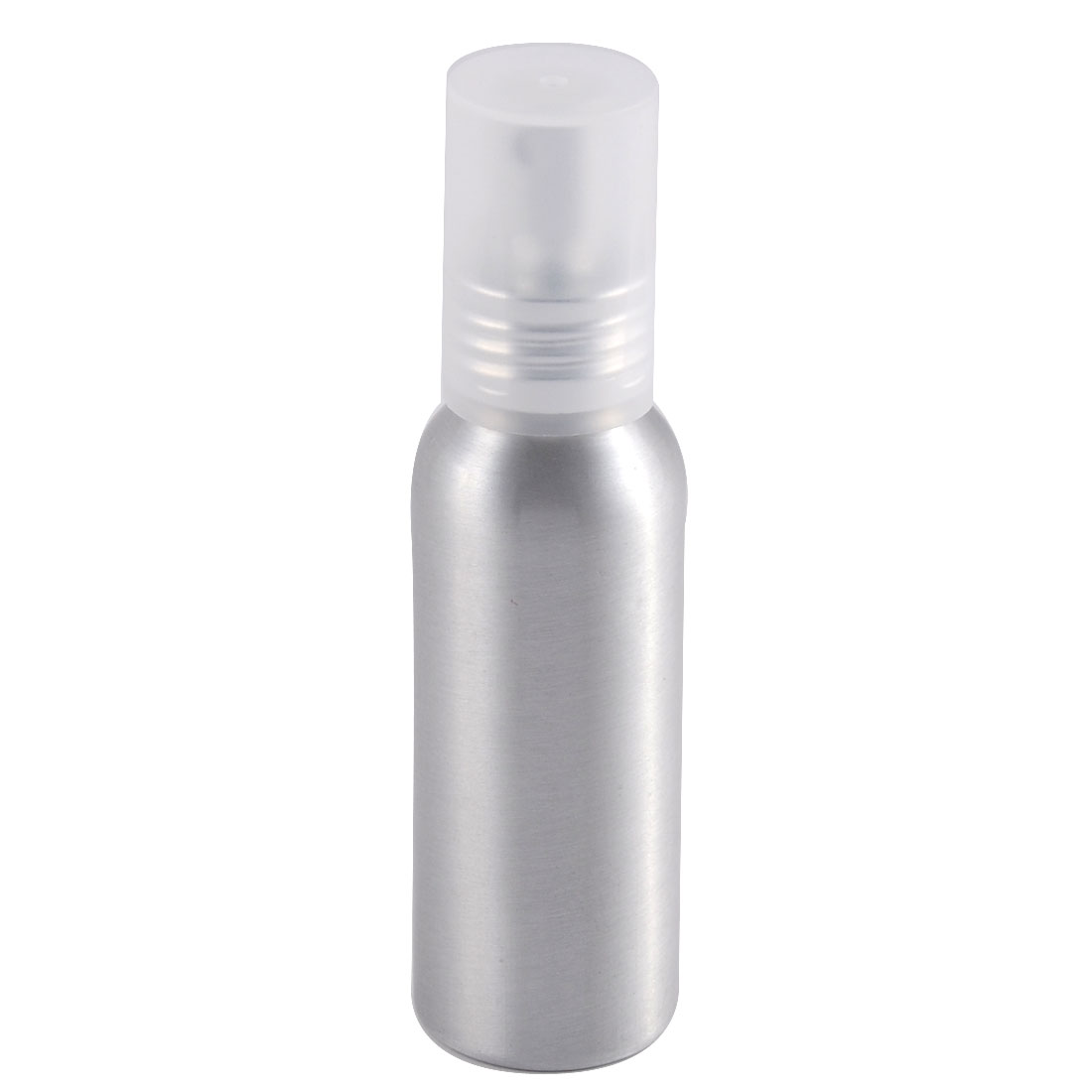 Travel Aluminum Cosmetic Emulsion Press Pump Fine Mist Spray Bottle Silver Tone 80ml
