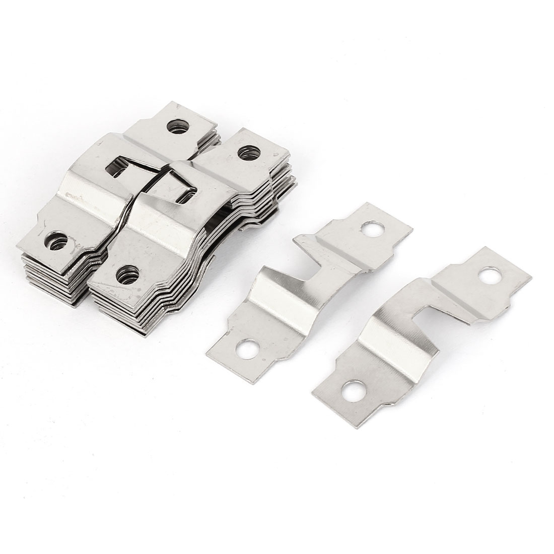 47mm x 15mm x 4mm Metal Double Hole Picture Frame Hanging Hooks Hangers 20PCS
