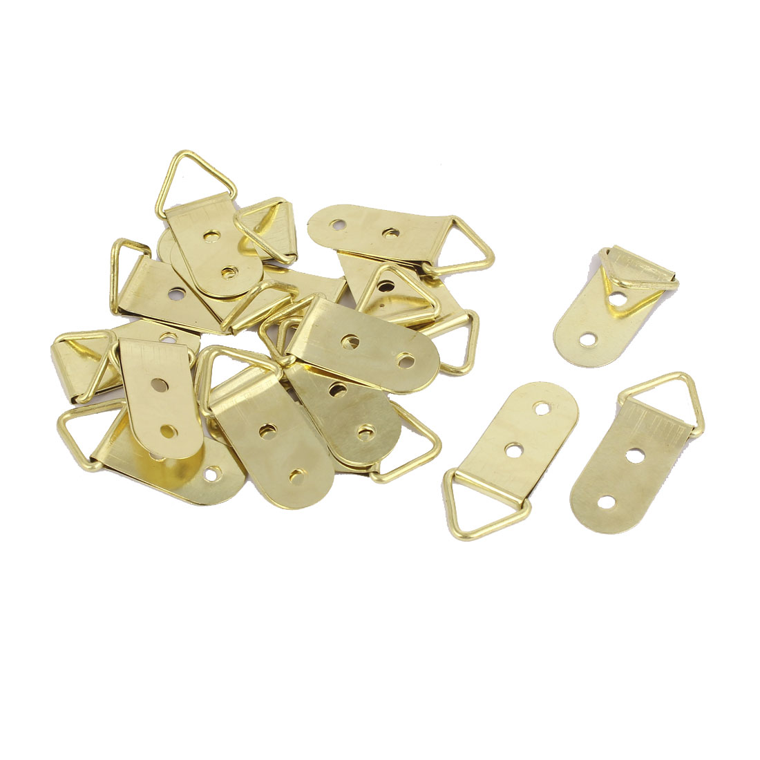 40mm x 18mm Triangle D-Ring Picture Photo Frame Strap Hanging Hangers 20PCS