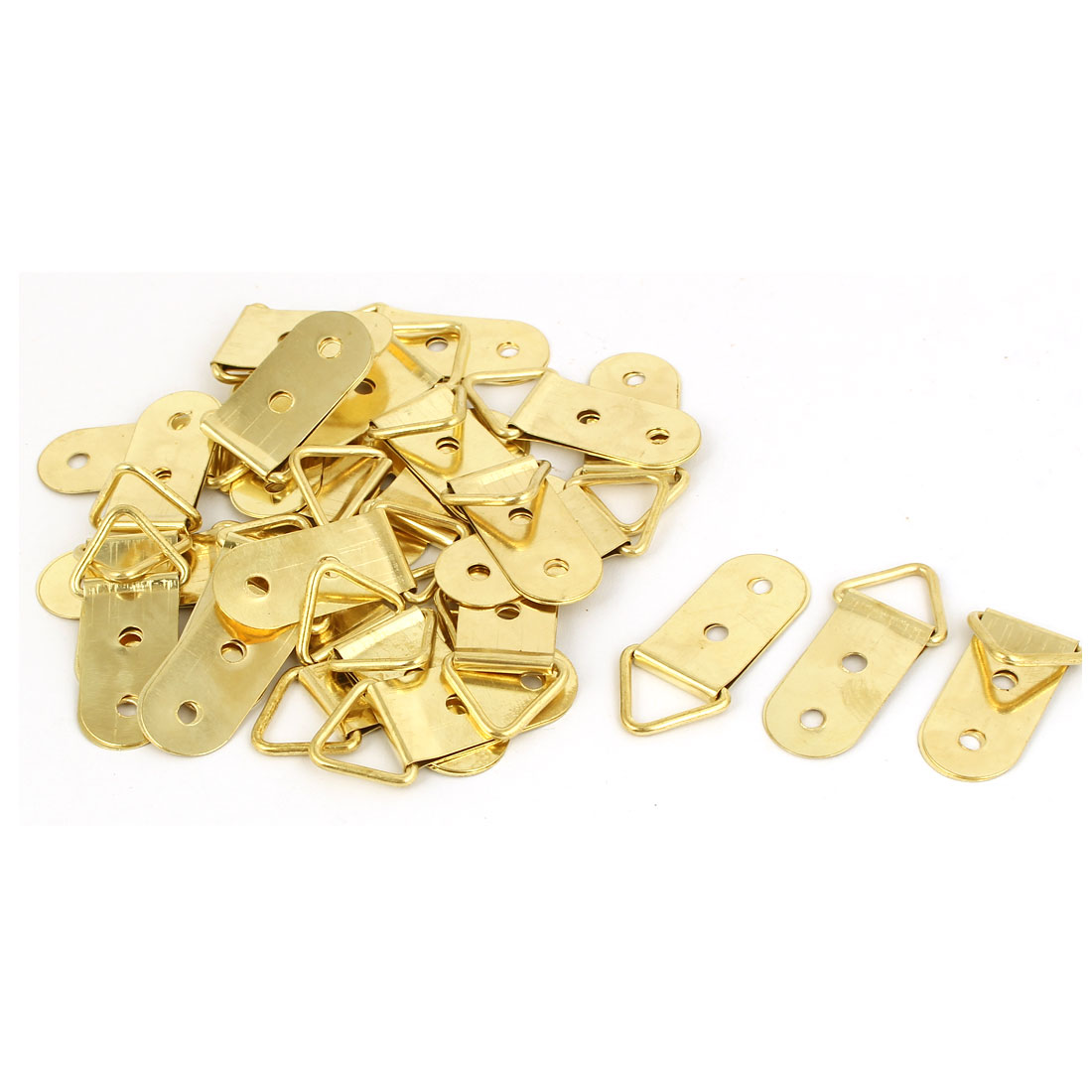 40mm x 18mm Triangle D-Ring Photo Frame Strap Hanging Hangers 30PCS w Screws