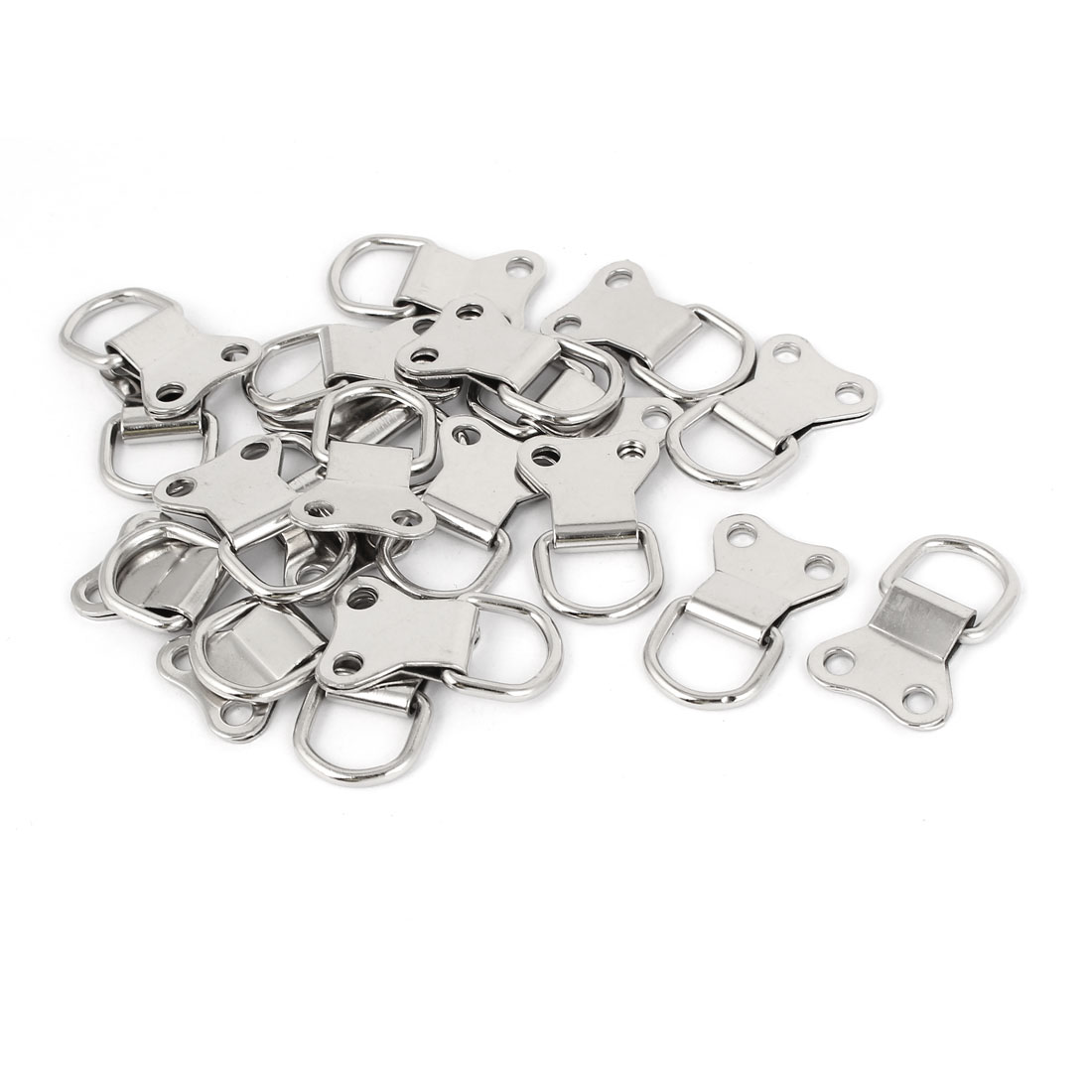 35mm x 22mm Double Hole D-Ring Picture Frame Hanging Hangers 20PCS w Screws