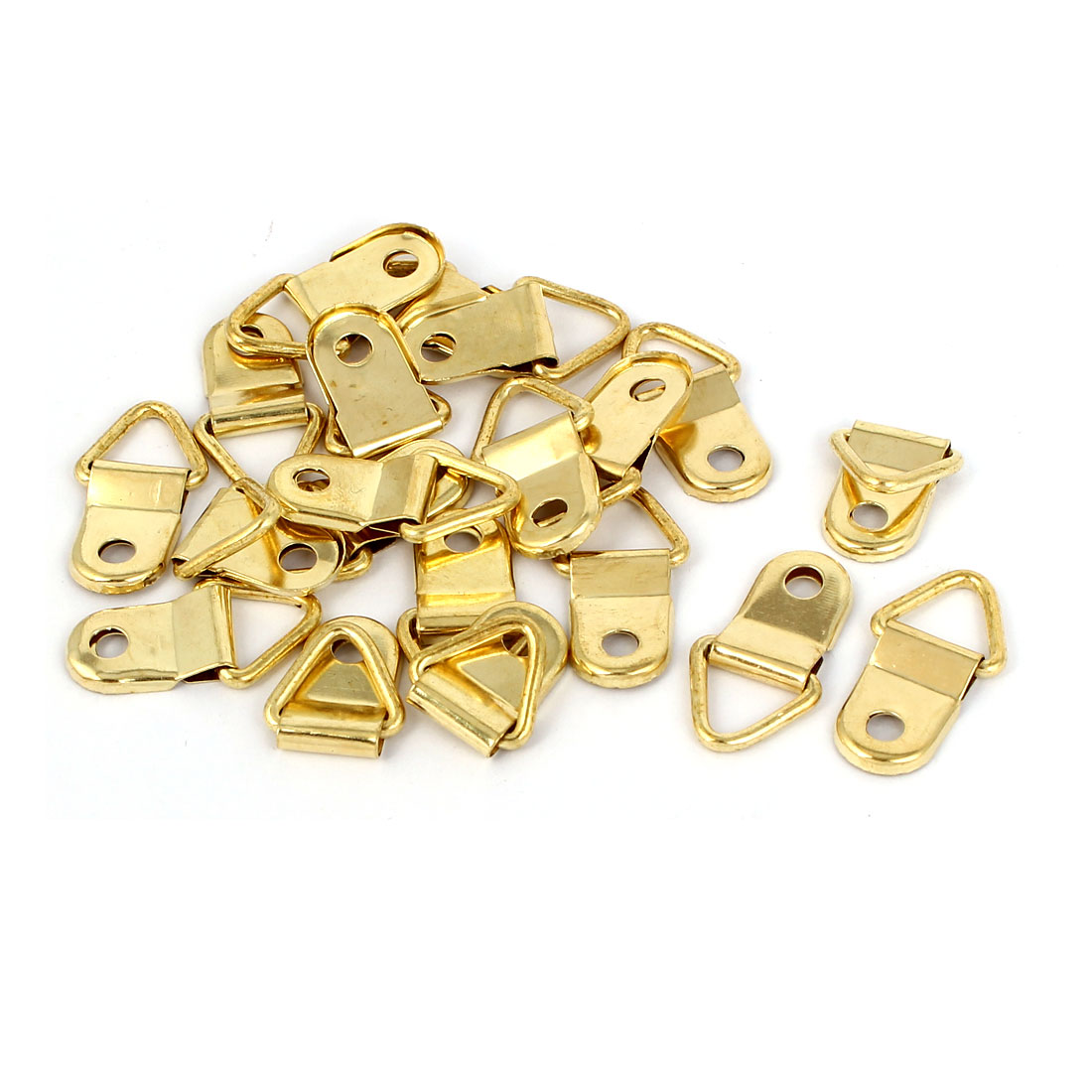 27mm Length Single Hole Triangle D Ring Picture Frame Hangers 20PCS w Screws