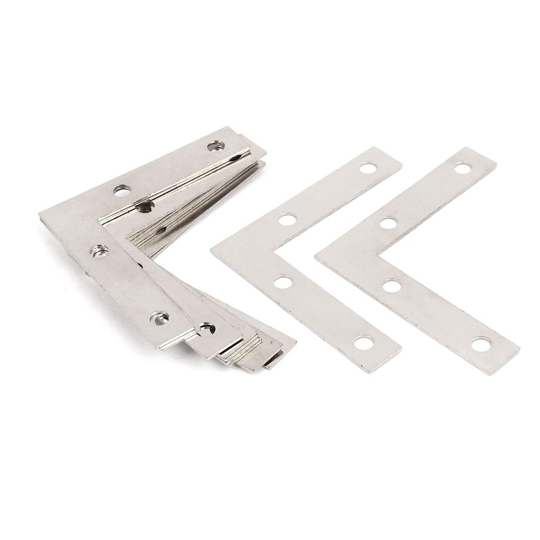 50mm x 50mm Angle Brackets Fixing Flat L Shape Repair Plates Silver Tone 12PCS