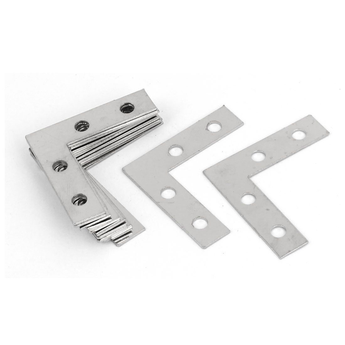 38mm x 38mm Angle Brackets Corner Braces Flat L Shape Repair Plates 12PCS