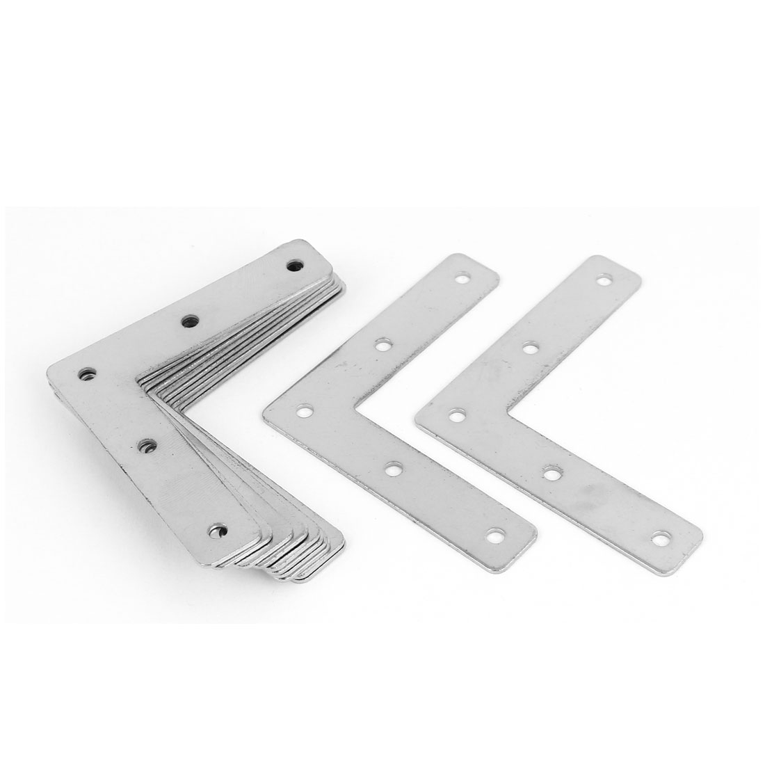 73mm x 73mm Angle Brackets Joint Fasteners Flat L Shape Repair Plates 12PCS