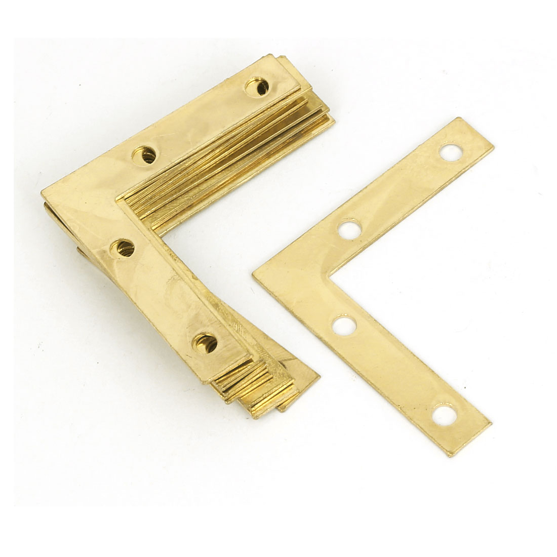 50mm x 50mm Angle Brackets Corner Braces Flat L Shape Repair Plates 12PCS