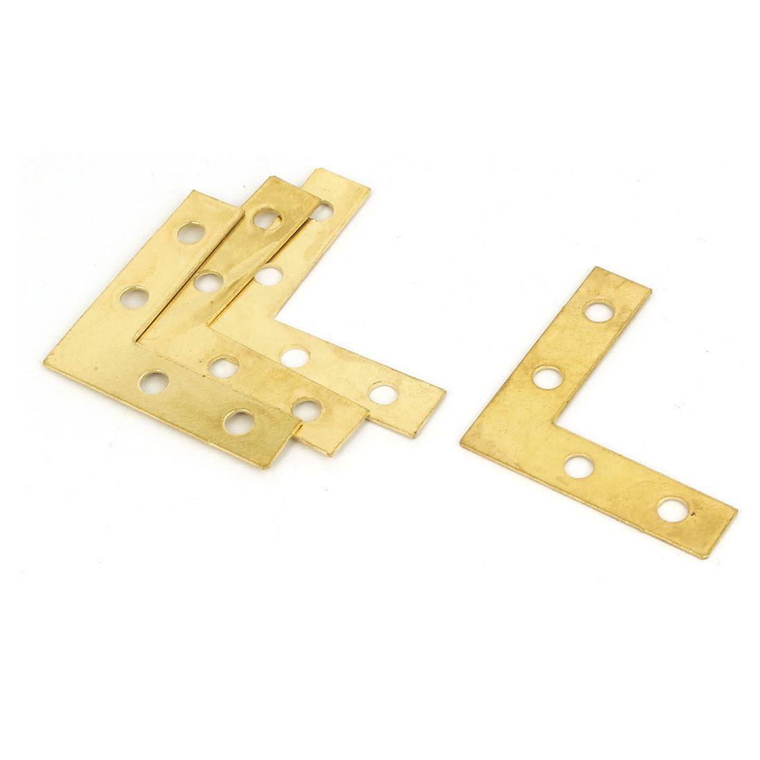 38mm x 38mm Angle Brackets Joint Fasteners Flat L Shape Repair Plates 4PCS