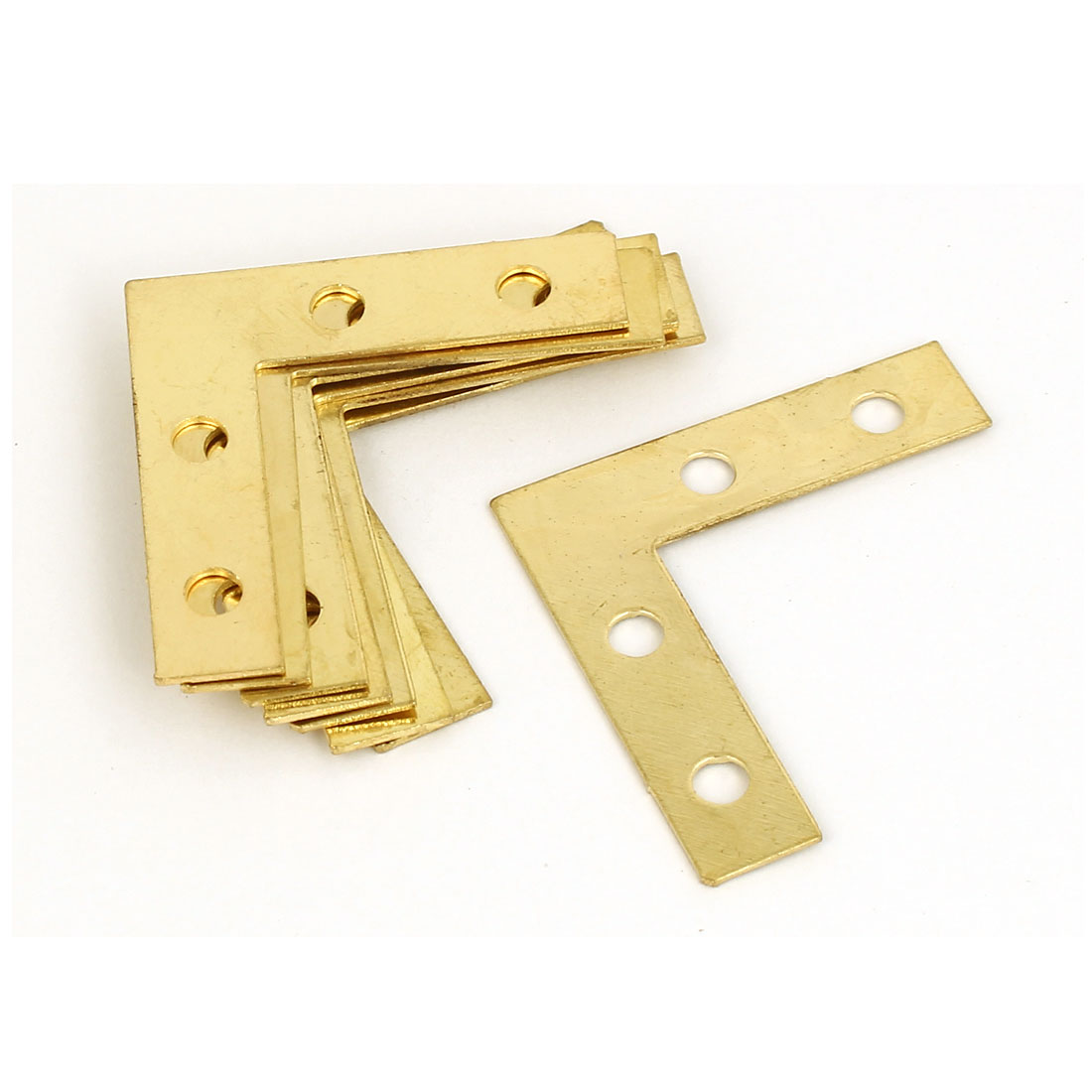 38mm x 38mm Metal Angle Brackets Flat L Shape Repair Plates 8PCS