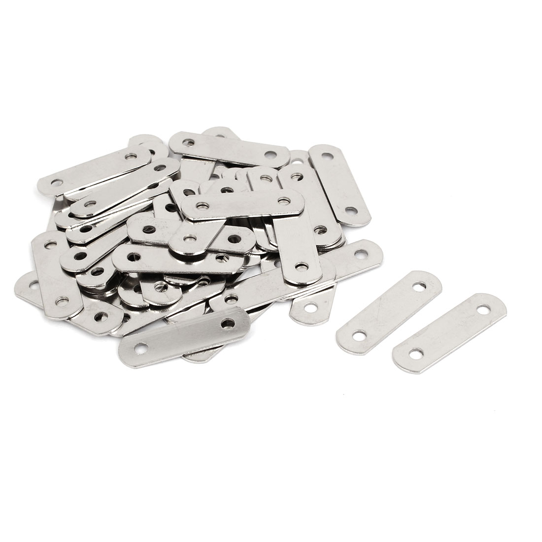 34.5mm x 10mm Flat Fixing Joining Corner Brackets Mending Repair Plates 50PCS