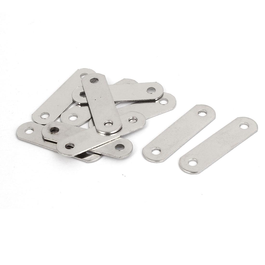 30mm x 8mm Straight Corner Fixing Brackets Flat Mending Repair Plates 10PCS